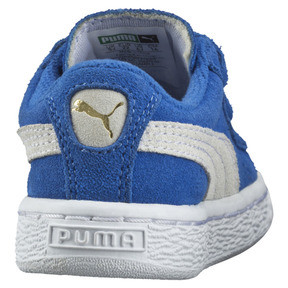 Thumbnail 3 of Suede Two-strap Babies' Trainers, snorkel blue-white, medium