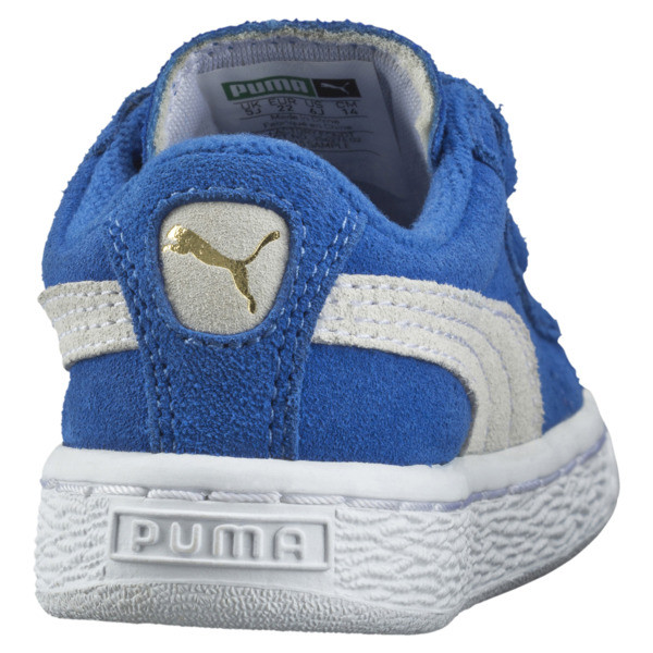 Suede Two-strap Babies' Trainers, snorkel blue-white, large
