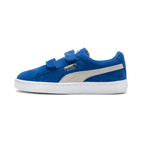 Thumbnail 1 of Suede Two-strap Babies' Trainers, snorkel blue-white, medium