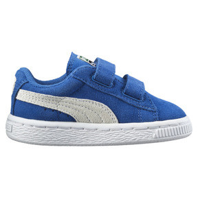 Thumbnail 4 of Suede Two-strap Babies' Trainers, snorkel blue-white, medium