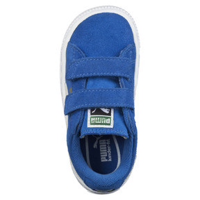 Thumbnail 5 of Suede Two-strap Babies' Trainers, snorkel blue-white, medium