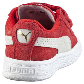 Thumbnail 3 of Suede 2 Straps Trainers, high risk red-white, medium