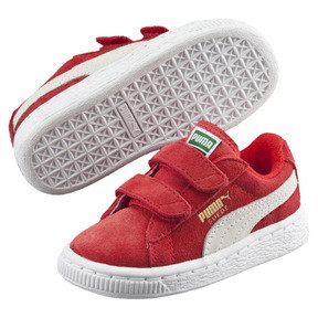 Thumbnail 2 of Suede AC Toddler Shoes, high risk red-white, medium