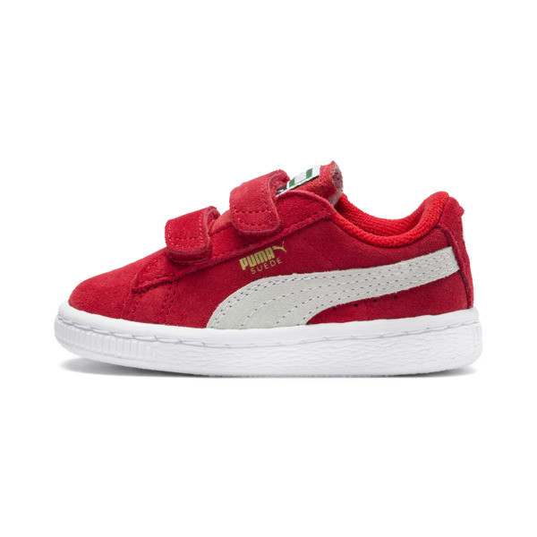 Zapatillas con dos tiras de bebé Suede, high risk red-white, grande