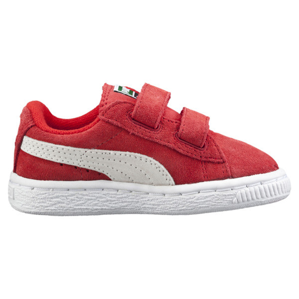 Zapatos Suede AC para bebés, high risk red-white, grande