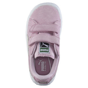 Thumbnail 5 of Suede AC Toddler Shoes, pink lady-team gold, medium
