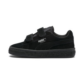 Thumbnail 1 of Suede Two-strap Babies' Trainers, Puma Black-Puma Silver, medium