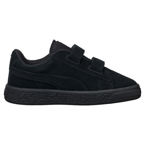 Suede Two-strap Babies' Trainers, Puma Black-Puma Silver, large