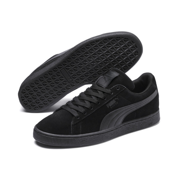 Suede Classic + LFS Men's Sneakers, black-black-black, large