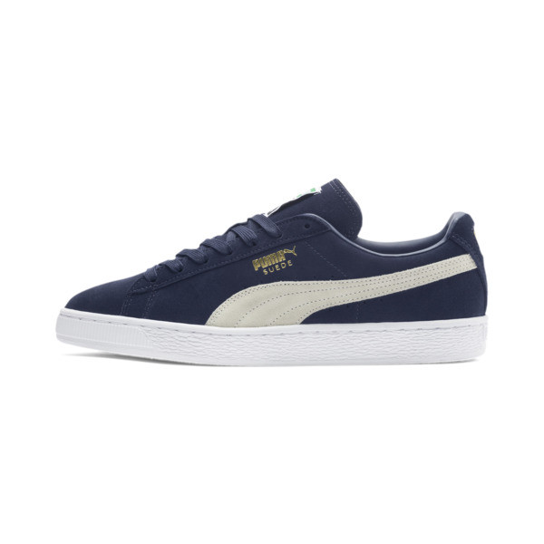 Suede Classic+ Sneakers, peacoat-white, large