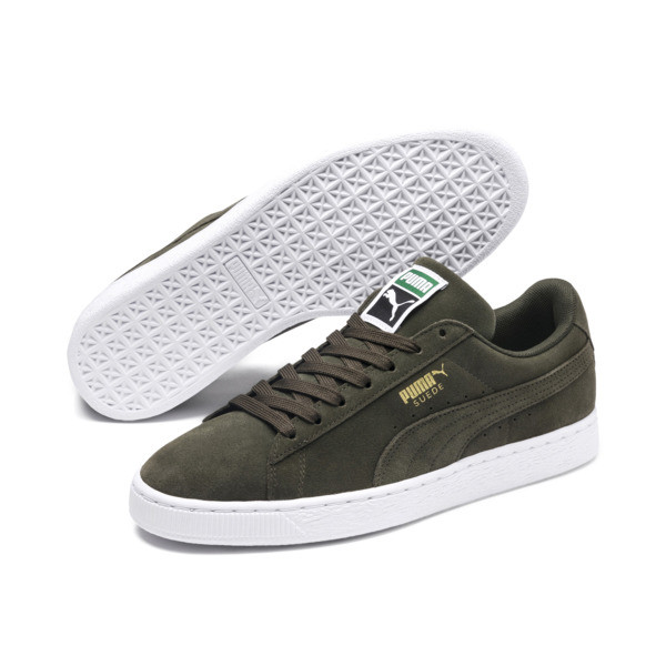 Suede Classic+ Trainers, forest night-white, large