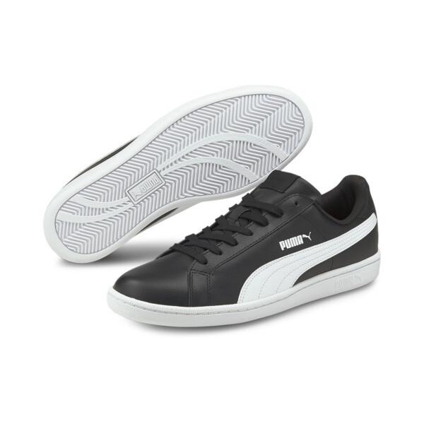 Smash Leather Men's Sneakers, black-white, large