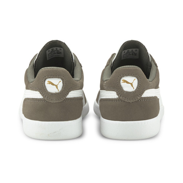 Icra Suede Trainers, Steel Gray-Puma White, large