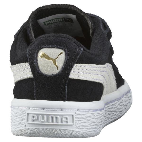 キッズ スウェード 2ストラップ PS スニーカー 17-21CM, Puma Black-Puma White, large-JPN