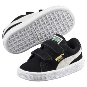 Thumbnail 2 of Suede Kids' Trainers, Puma Black-Puma White, medium