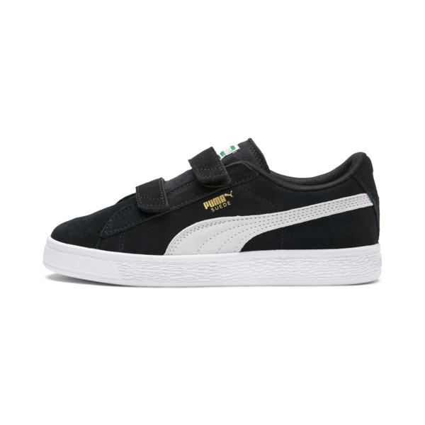 Suede Kids' Trainers, Puma Black-Puma White, large