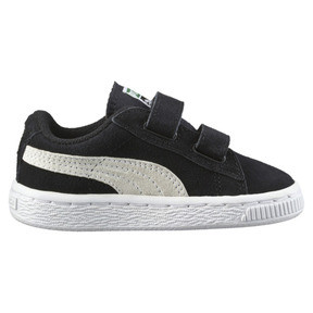 Thumbnail 4 of Suede Kids' Trainers, Puma Black-Puma White, medium