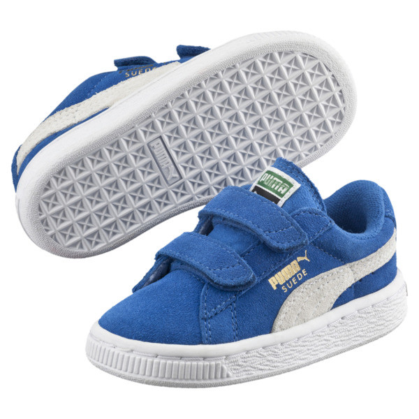 Suede Kids' Trainers, Snorkel Blue-Puma White, large