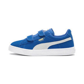 Thumbnail 1 of Basket Suede à 2 sangles pour enfant, Snorkel Blue-Puma White, medium
