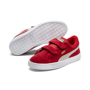 Thumbnail 2 of Suede Kids' Trainers, High Risk Red-Puma White, medium