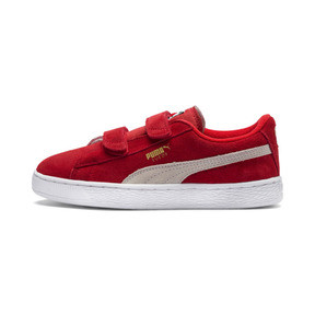Thumbnail 1 of Suede Kids' Trainers, High Risk Red-Puma White, medium