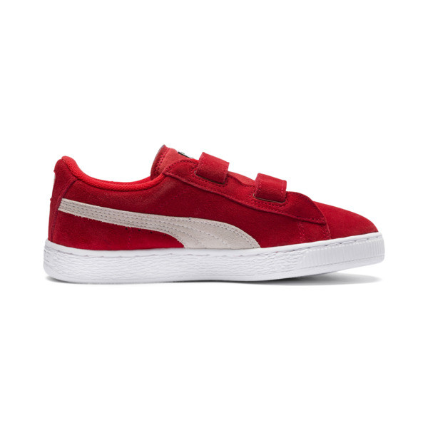 Suede Kids' Trainers, High Risk Red-Puma White, large