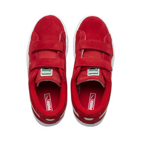 Thumbnail 6 of Basket Suede à 2 sangles pour enfant, High Risk Red-Puma White, medium