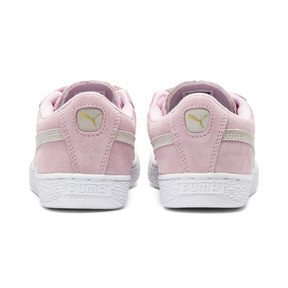 Thumbnail 4 of Suede Kids' Trainers, Pink Lady-Puma Team Gold, medium