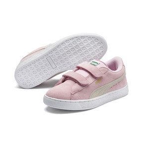 Thumbnail 2 of Suede Preschool Sneaker mit 2 Riemen, Pink Lady-Puma Team Gold, medium