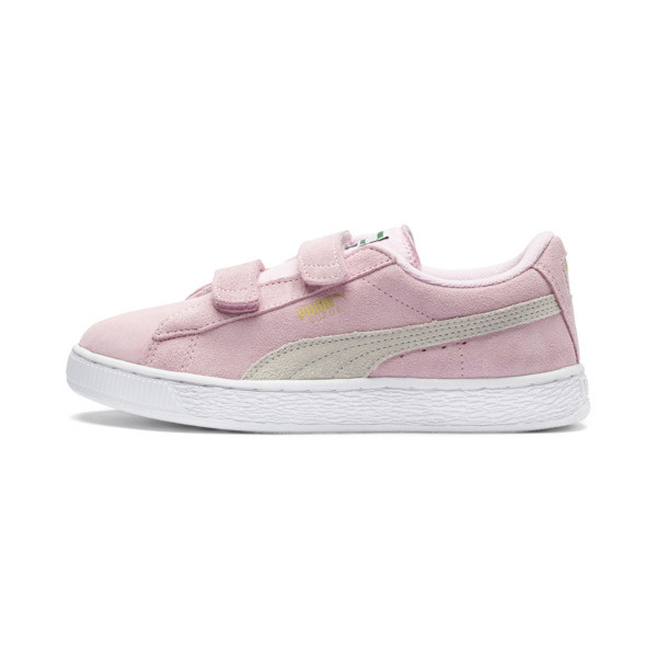 Basket Suede à 2 sangles pour enfant, Pink Lady-Puma Team Gold, large