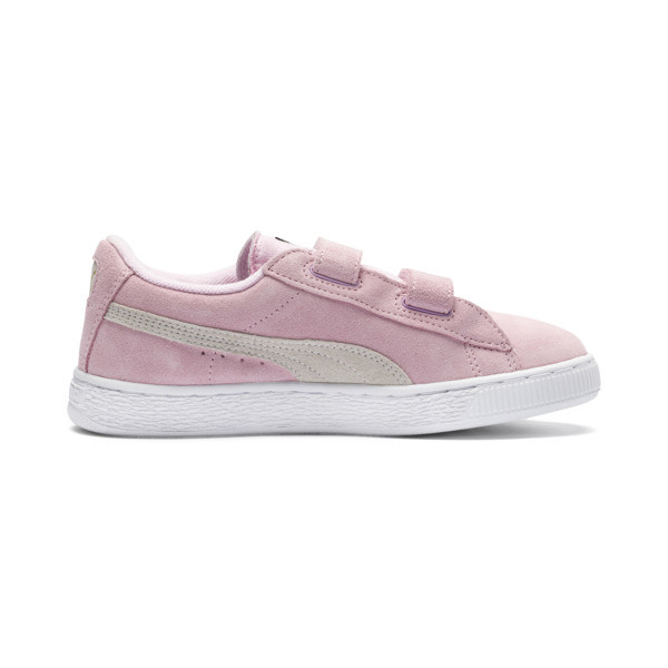 Suede Kids' Trainers, Pink Lady-Puma Team Gold, large