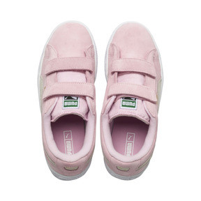 Thumbnail 6 of Suede Preschool Sneaker mit 2 Riemen, Pink Lady-Puma Team Gold, medium