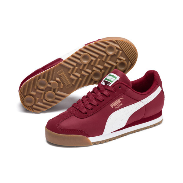 Roma Basic Summer Sneakers JR, Rhubarb-Puma White, large