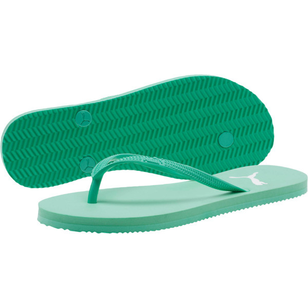 First Flip Women's Sandals, Biscay Green-Puma White, large