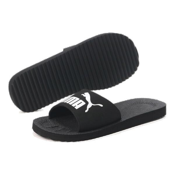 ピュアキャット サンダル, black-white, large-JPN