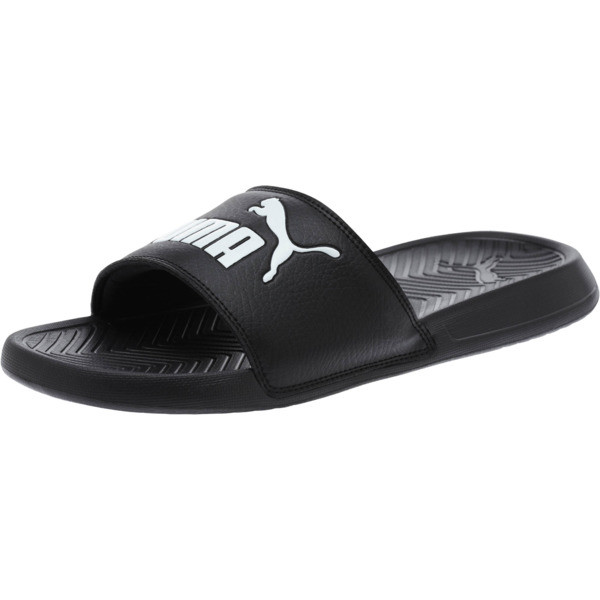 Popcat Slide Badeschuhe, black-black-white, large