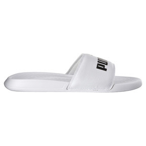 Thumbnail 4 of Popcat Slide Badeschuhe, Puma White-Puma Black, medium
