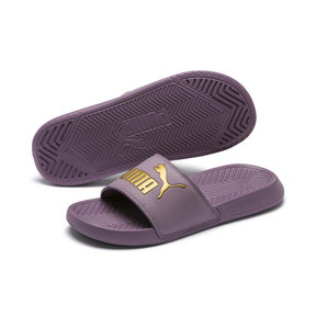 Thumbnail 2 of Popcat Slide Badeschuhe, Elderberry-Puma Team Gold, medium