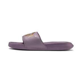 Thumbnail 1 of Popcat Slide Badeschuhe, Elderberry-Puma Team Gold, medium