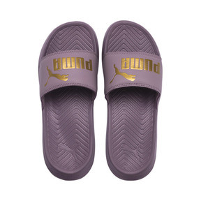 Thumbnail 6 of Popcat Slide Badeschuhe, Elderberry-Puma Team Gold, medium