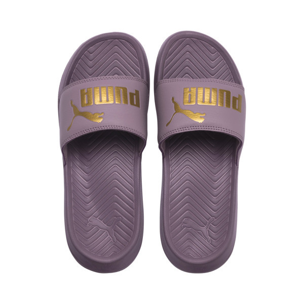 Popcat Slide Badeschuhe, Elderberry-Puma Team Gold, large
