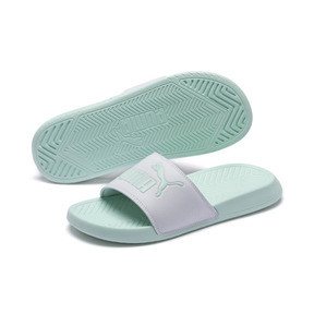 Thumbnail 2 of Popcat Slides, Puma White-Fair Aqua, medium