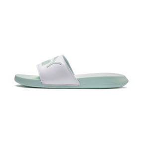 Thumbnail 1 of Popcat Slides, Puma White-Fair Aqua, medium