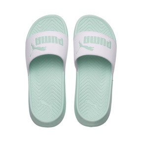 Thumbnail 6 of Popcat Slides, Puma White-Fair Aqua, medium