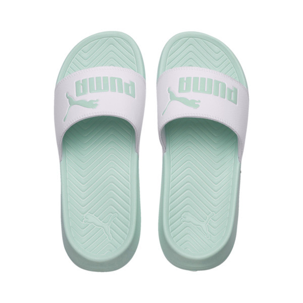 Popcat Slides, Puma White-Fair Aqua, large