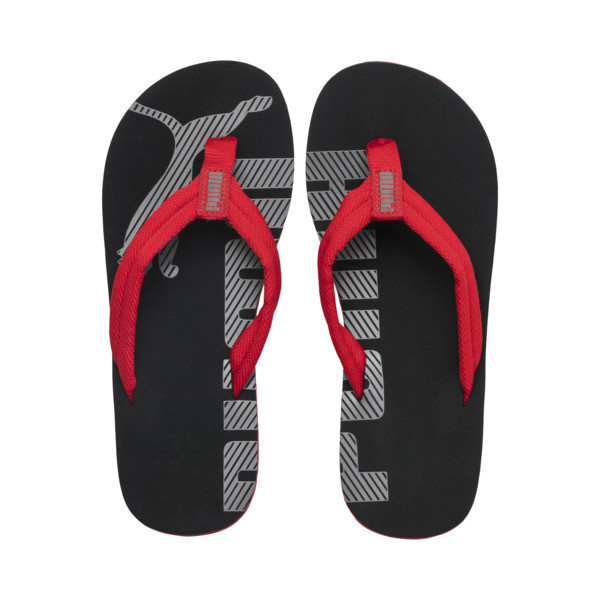 Epic Flip v2 Kids' Sandals, High Risk Red-Puma Black, large