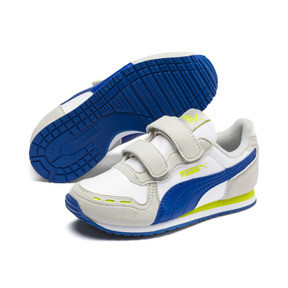 Thumbnail 2 of Cabana Racer SL AC Little Kids' Shoes, Puma White-Galaxy Blue, medium