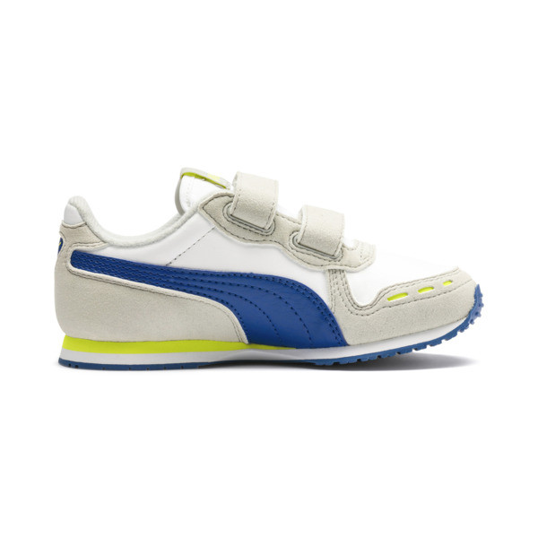 Cabana Racer SL AC Little Kids' Shoes, Puma White-Galaxy Blue, large