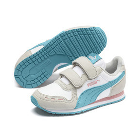 Thumbnail 2 of Cabana Racer SL AC Little Kids' Shoes, Puma White-Milky Blue, medium