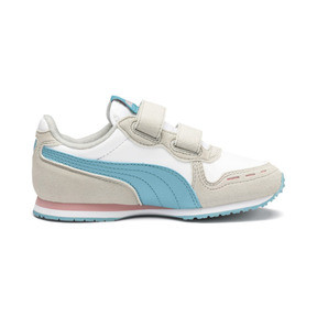 Thumbnail 5 of Cabana Racer SL AC Little Kids' Shoes, Puma White-Milky Blue, medium